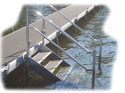 Dock or Seawall Boarding Steps